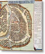 Moscow: Map, 1662 Metal Print