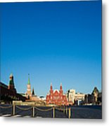 Moscow Red Square From South-east To North-west Metal Print