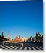 Moscow Red Square From South-east To North-west - Square Metal Print