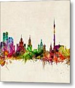Moscow Skyline Metal Print
