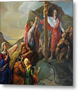Moses And The Brazen Serpent - Biblical Stories Metal Print