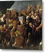 Moses And The Water From The Stone Metal Print