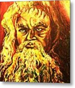 Moses At The Burning Bush Metal Print