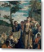 Moses Saved From The Waters Metal Print