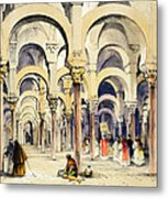 Mosque At Cordoba, From Sketches Metal Print