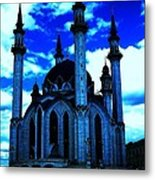 Mosque In Blue Colors Metal Print
