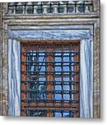 Mosque Window Metal Print