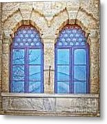 Mosque Windows 3 Metal Print
