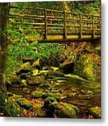 Moss Bridge Metal Print