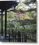 Moss Garden Temple - Kyoto Japan Metal Print