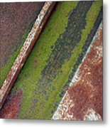 Moss Green-raw Steel Metal Print