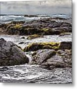 Moss Rocks Hawaii Metal Print