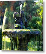 Mossy Fountain Metal Print