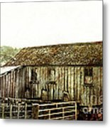 Mossy Shed Metal Print