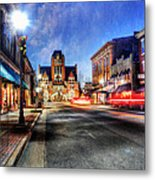 Most Beautiful Small Town In America At Christmas Metal Print