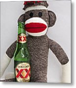 Most Interesting Sock Monkey In The World Metal Print by William Patrick