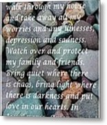 Most Powerful Prayer With Beachrocks Metal Print