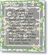 Most Powerful Prayer With Daisies Metal Print