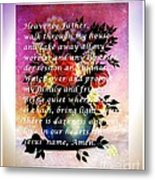 Most Powerful Prayer With Flowers In A Vase Metal Print