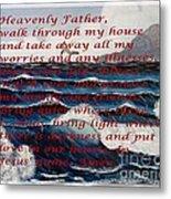 Most Powerful Prayer With Ocean Waves Metal Print
