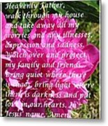 Most Powerful Prayer With Peony Bush Metal Print