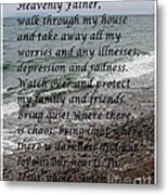 Most Powerful Prayer With Seascape Metal Print