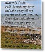 Most Powerful Prayer With Seashore Metal Print