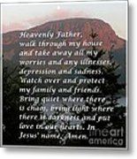Most Powerful Prayer With Sunset And Moon Metal Print