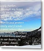 Most Powerful Prayer With Winter Scene Metal Print