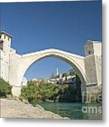 Mostar Bridge In Bosnia Metal Print