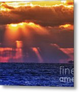Mostly Cloudy Metal Print