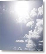 Mostly Sunny Metal Print