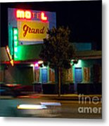 Motel Grand Metal Print