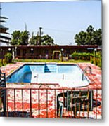 Motel Pool 3 Metal Print