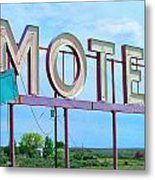 Motel Sign - Arrow Metal Print