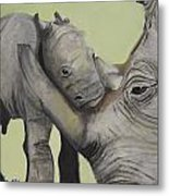 Mother And Baby 1 Metal Print