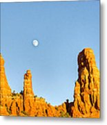 Mother And Child And Moon 21 Metal Print