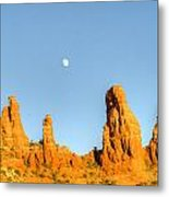 Mother And Child And Moon 25 Metal Print