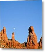 Mother And Child And Moon Metal Print