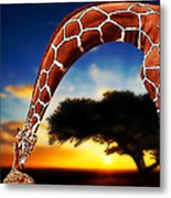 Mother And Child Metal Print by Jack Zulli