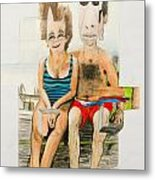 Mother And Father Metal Print