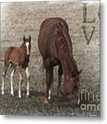 Mother And Son Love Metal Print