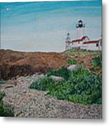 Mother Ann And Eastern Point Light Metal Print