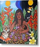 Mother Earth Sustains Metal Print