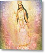 Mother Goddess In Rainbow Colours Metal Print