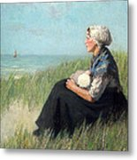 Mother In The Dunes Metal Print