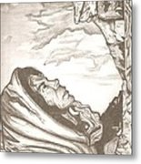 Mother Mary Drawing Metal Print