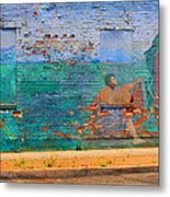 City Mural - Mother Mary Metal Print