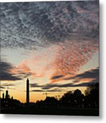 Mother Nature Painted The Sky Over Washington D C Spectacular Metal Print