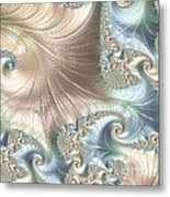 Mother Of Pearl - A Fractal Abstract Metal Print